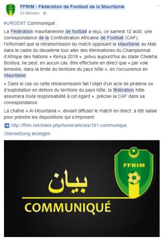 الاتحاد الافريقي يحذر من بث لقاء المرابطون مع مالي (تفاصيل)
