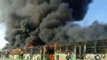 سوريا: حرق حافلات لإجلاء مدنيين شيعة